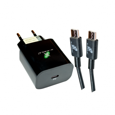 Carregador Ultra Rápido Qualcomm Quick Charge 4.0A 18W USB Tipo C + Cabo USB -C - XC-UR28 - X-Cell